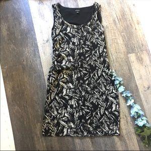 Ann Taylor   Black Printed Dress